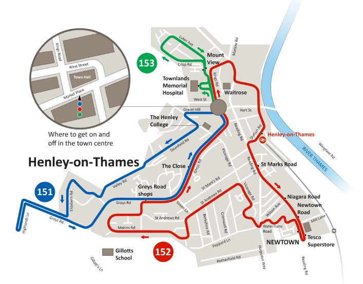 Henley Town's bus service restarts 13th October 2020